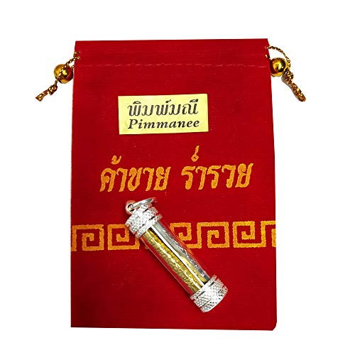 Heavens Tvcz Buddha Amulet Pendant for Men Women Charms Talismans Magic Takrut Three Kings 3 Colors Silver Gold NAT Thailand Amulets Buddha Yantra Holy Bring Prosperity Luck Success Wealth In Life Trade Flourishing Prevent Danger Talisman Attract Money That Can Change Your Life