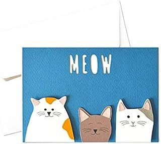 Gattini - simpatici gatti - amori - meow - biglietto d'auguri (formato 10,5 x 15 cm) - vuoto all'interno, ideale per il tu...