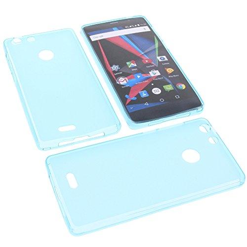 foto-kontor Tasche für Archos 55 Diamond Selfie 55 Diamond Selfie Lite Gummi TPU Schutz Handytasche blau