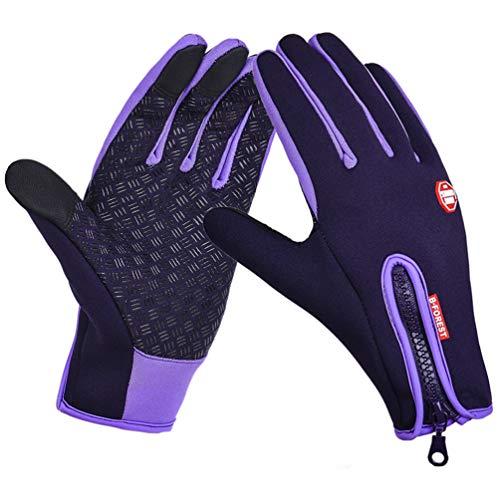 SODSIM Touchscreen Handschuhe Winter Fahrradhandschuhe Touchscreen Herren Laufhandschuhe Wasserdicht Damen Warm