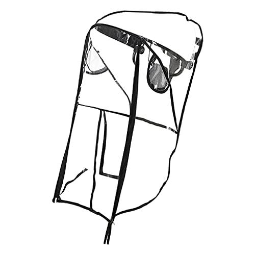 lahomia Cochecito de Bebé Cubierta para La Lluvia a Prueba de Viento a Prueba de Polvo Escudo contra El Polvo del Viento Cochecito Transparente