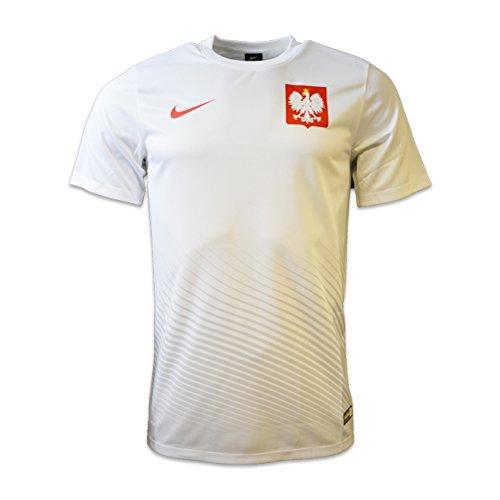 Nike Herren Poland M Home/Away Supporters Tee Kurzärmeliges Polen Fußballtrikot, weiß/Sport rot, M