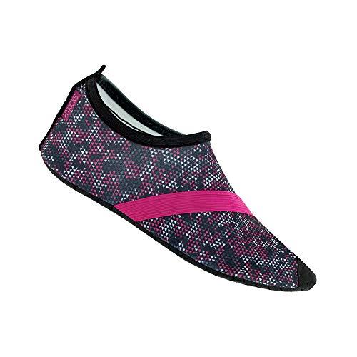 Fitkicks flexible Schuhe für Ballett, Yoga, Reisen, Wasser, - Primal - Größe: Large