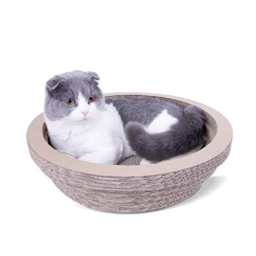 Cat Scratcher-karton, omkeerbare Cat Scratcher-navulling, Cat Lounge, Pet Scratch Board-doos voor katten, ronde Cat Scratch Lounge krabbed met kattenmunt