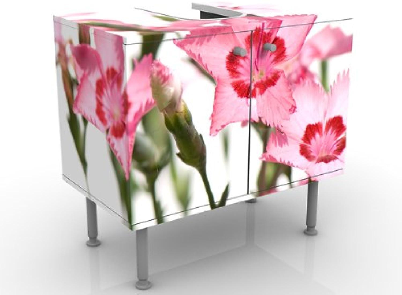 INDIGOS UG Design Vanity Pink Flowers 60x55x35cm