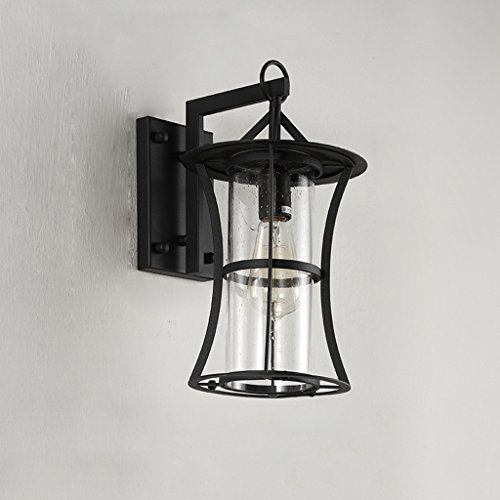 CKH wandlamp voor buiten, Villa, verlichting, voor allee, balkon, waterdicht, ijzer, kunst, rond, regen, bloem, glas, lampenkap