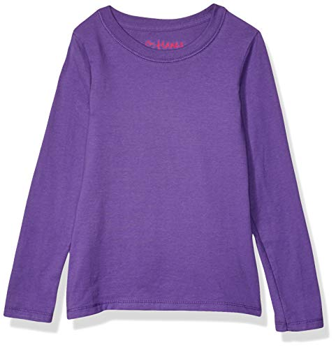 Hanes Big Girls' Comfortsoft Long Sleeve Tee, Purple Crush, XL