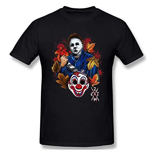 IUBBKI Camiseta básica de Manga Corta para Hombre Michael Myers Halloween Vintage Mens T-Shirt Black