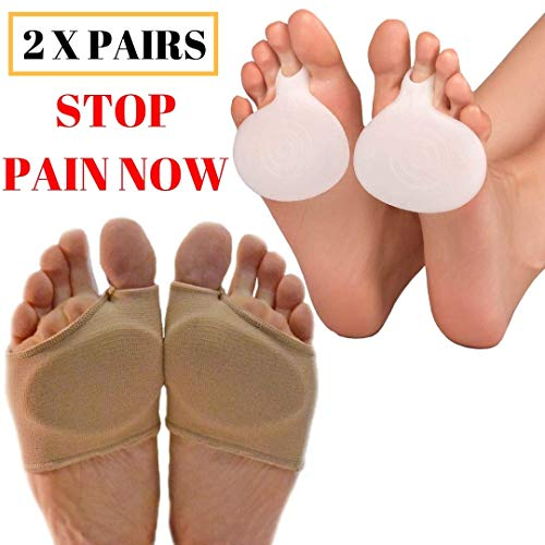 MEDIZED Metatarsal Cushion Silicone Gel Pad Ball of Foot Pain Fore Foot Shoe...