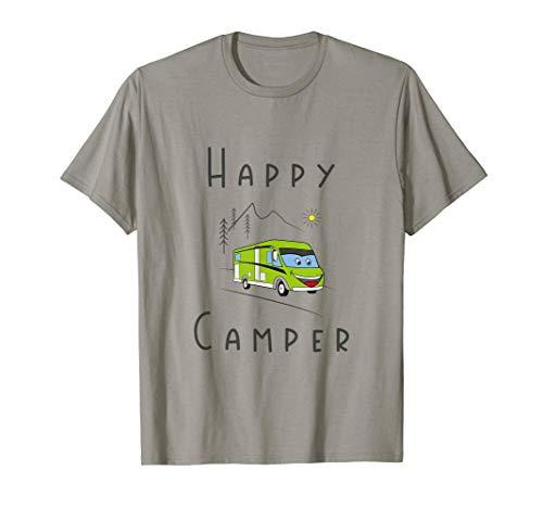 Lustiges Happy Camper Wohnwagen | Wohnmobil | Caravan T-Shirt