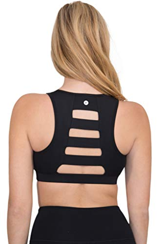 90 Degree By Reflex High Impact Full Support Ladderback Sports Bra - Black - Small