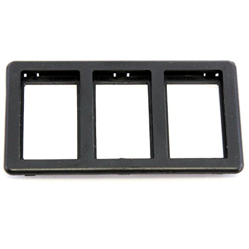 Red Hound Auto Switch Bezel Black 3-Slot Compatible with Jaguar XJS 1989-1996 for Power Windows (Sunroof or Convertible Top)