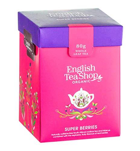 English Tea Shop Tisana Biologica ai Frutti Rossi del Bosco in Foglia Sfusa Eco-Box Compostabile - 1 x 80 Grammi