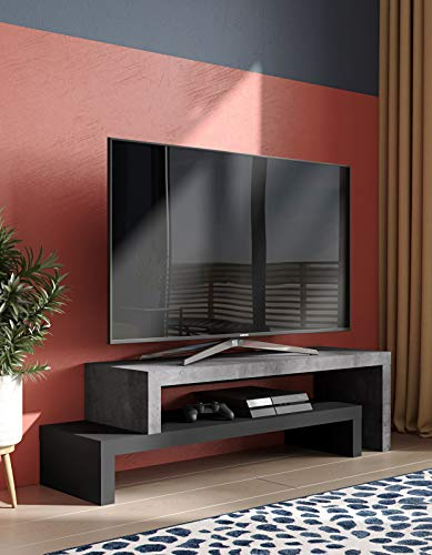 TemaHome Cliff 120/120 TV Tisch, Honeycomb Panel, 125/235 x38 x20/40 cm (LxBxH)