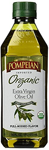 Pompeian Organic Extra Virgin Olive Oil 16 oz ( 2 Pack)