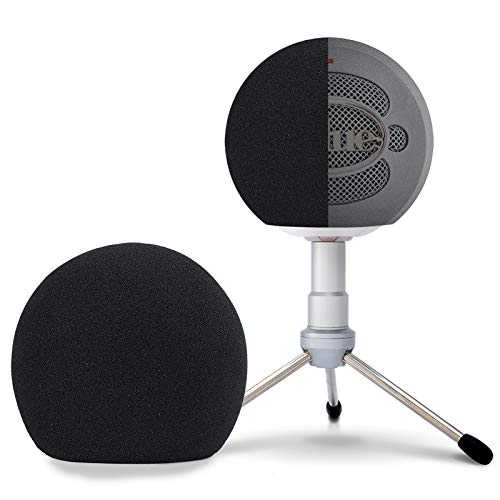Blue Snowball Pop Filter Windscreen - Professional Snowball iCE Mic Foam Wind Cover Windshield Pop Filter for Recordings, Broadcasting, Singing by SUNMON