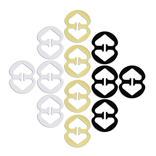 DREETINO BH-träger Clip,12PCS BH-Träger Halter für Damen BH-Träger Strap Clip Extenders(3 Farben)