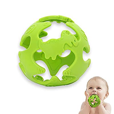 Amazon - Save 50%: Silicone Baby Teething Toys, Baby Teether Dinosaur Shape,Dinosaur…