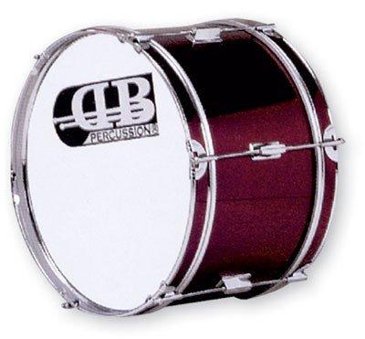 "DB Percussion DB0048 - Bombo banda 18"" x 10"", color rojo vino"
