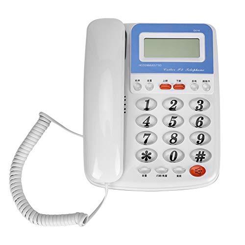 Topiky snoergebonden telefoon, vaste telefoonondersteuning voor op het bureau, handsfree, wekker, beller-ID-functie voor kantoor en thuis