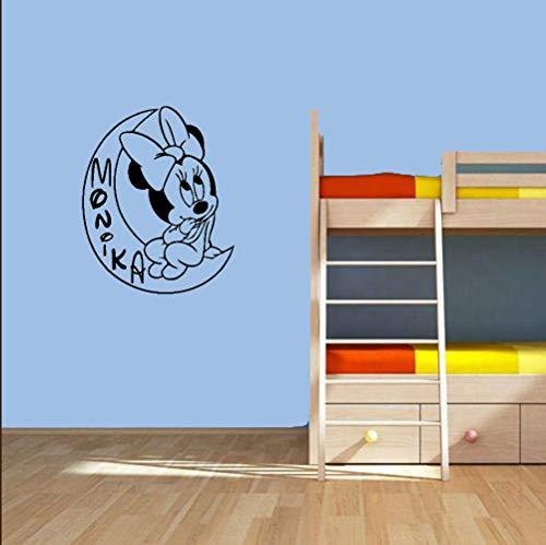 Sticker Mickey Mouse Sticker Minnie Mouse Assis Sur La Lune Spécial Conçu Wall Decal Maison Bébé Chambre Dreamly Sweet