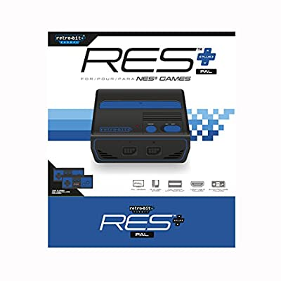 RES+ Royal Blue PAL version Retro-Bit EU (NES) (Electronic Games)