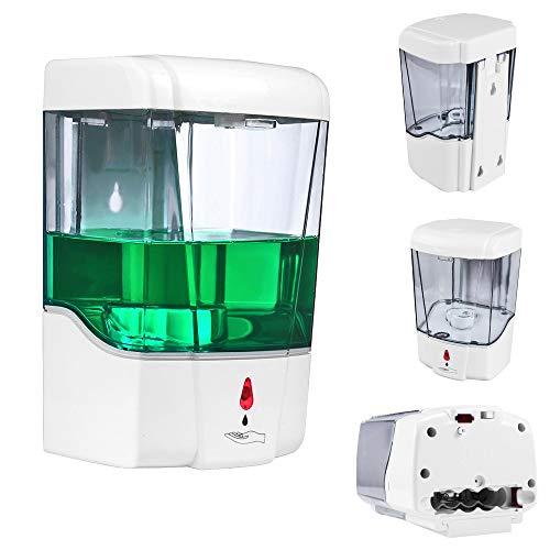 SUNJULY Dispensador Automático de Jabón Pared, 700ml Dispensador Automático de Jabón con Sensor IR de Montaje en Pared, Bomba de Loción de Jabón de Cocina sin Contacto, Actualización-Responsive
