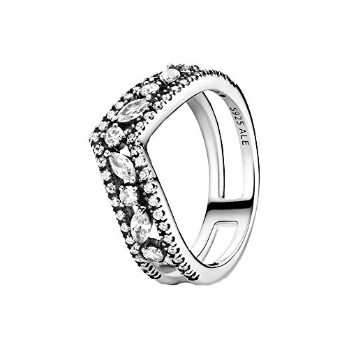 Pandora Ladies Sterling silver Other form Cubic Zirconia Statement ring - 199095C01-54