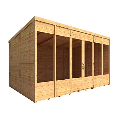 BillyOh Bella Tongue and Groove Pent Summerhouse, Range of Sizes, Pressure Treated Option (Spray Treated, 12x8)