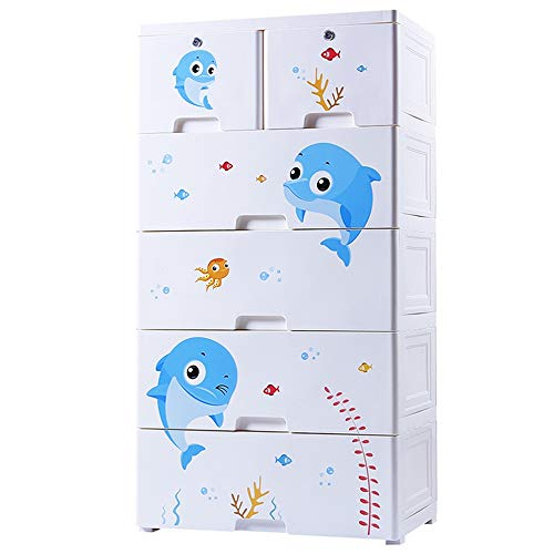 Best Review Of Portable Wardrobe Closet Office Playroom 5 Drawers Armoire Storage Drawers Tall Dress...