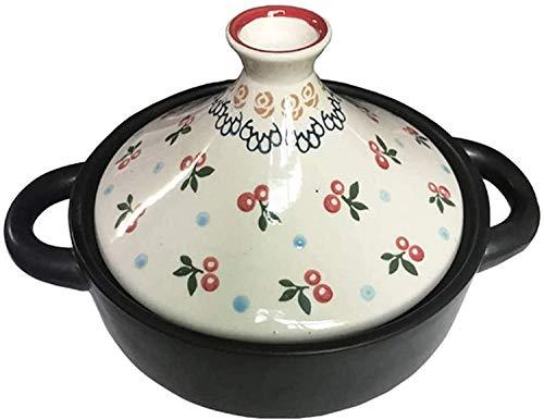 QIANMEI Taji Topf 20cm Taginottopf mit Deckel für Hausküche | Bleifrei kalt und hitzebeständig Kochen Kasserolle | Nicht-Stick-Pfanne