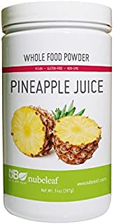 Nubeleaf Pineapple Juice Powder - Non-GMO, Gluten-Free, Raw, Vegan Source of Essential Vitamins & Minerals - Nutrient Rich Superfood for Cooking, Baking, Smoothies (14oz)