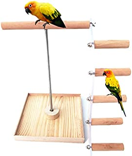 Bird Perch Natural Wood Stand Toy Parrots Playground Branch Bird Set Platform Toy Ladders for Cockatiel Conure Budgies Parakeet Parrot Small Medium Parrots