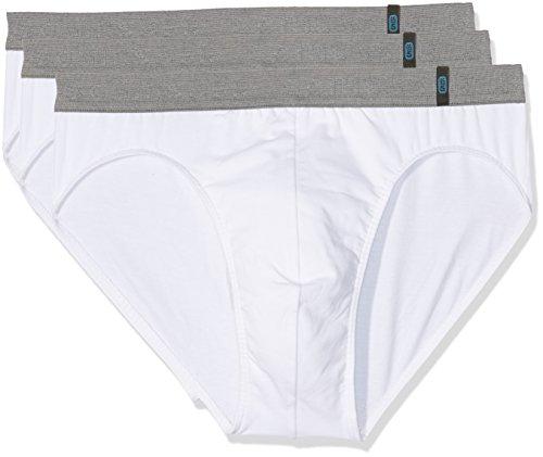 Schiesser Herren 95/5 Rio-Slip (3er Pack) Slip,,3er Pack|#3per pack Weiß (weiss 100),X-Large (Herstellergröße:007)