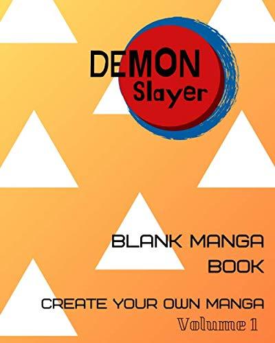 Blank comic book Demon Slayer: Create your own manga, Blank manga book and Writing Workbook, How to create your own demon slayer corps.(Volume1 Thunder)