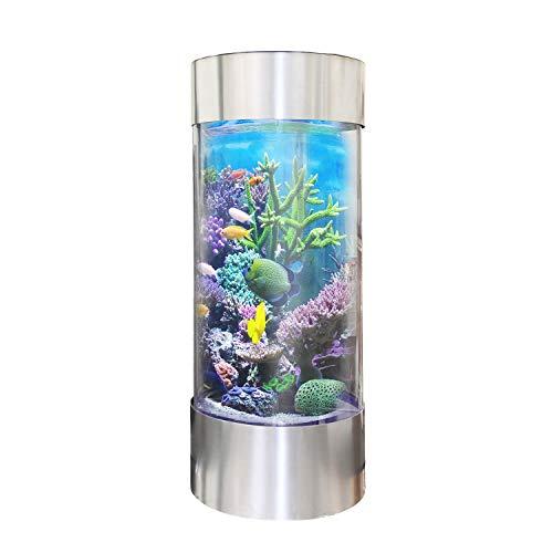 Vepotek Vapotek 360 Stainless Steel Trim Acrylicand Plastic Cylinder Fish Tank 69x20