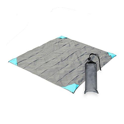 Ndier Couverture de Pique-Nique étanche et Portable Pliable pour l'extérieur pour pelouse, Plage, Camping, 140 x 140 cm