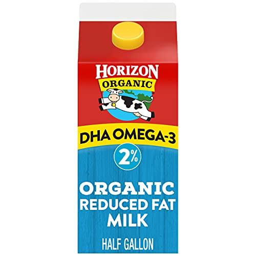 Horizon Organic, Milk Plus DHA Omega-3, 2% Reduced Fat Milk Ultra Pasteurized, Half Gallon, 64 Fl Oz