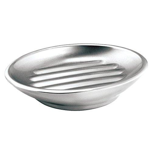 InterDesign Forma Jabonera para baño | Accesorios para baños modernos | Jabonera inoxidable en materiales de calidad | Acero cepillado