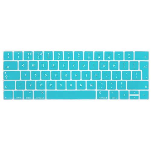Pegatina para teclado para MacBook Pro 13 Air 11 12 13 15 pulgadas película protectora de silicona A2159 A1990 A1708A1466A1398 A1502 cubierta para teclado Pro15 retina A1398 Azul, para Pro15 Retina A1398.