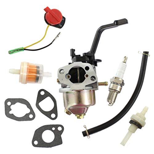 HURI Vergaser Stromerzeuger mit Dichtungsisolator Dichtung Zündkerze Benzinschlauch Stopschalter für Honda GX160 GX200 168F 5.5HP 6.5HP 2KW-3KW Generator