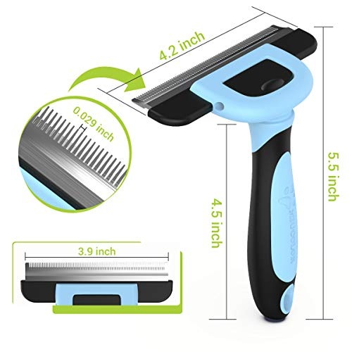 MIU COLOR Pet Deshedding Brush, Professional Grooming Tool, Effectively Reduces Shedding by up to 95% for Short Medium and Long Pet Hair