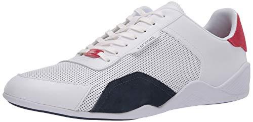 Lacoste mens Hapona 120 3 Cma Sneaker, White/Navy/Red, 10.5 US