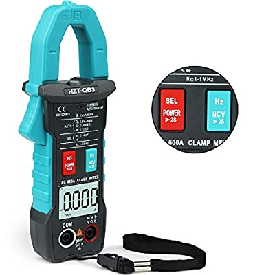 HASAGEI Fully Automatic Intelligence T-RMS Digital Multimeter Volt Clamp Meter, Measures Current Voltage Capacitance Resistance Diodes Continuity, No Dial, True Auto-ranging/Inrush Test/NCV Function