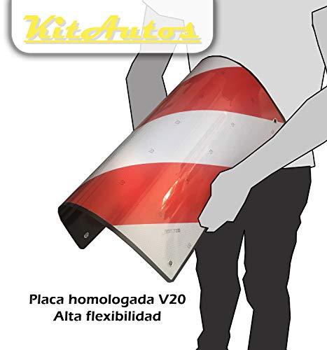 Kitautos Warntafel KIII V20 Warntafel V20,StVZO (in Spanien) zugelassen. Material: ABS-Kunststoff.