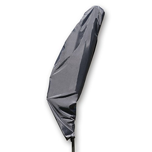 MONKEY MOUNTAIN® Schutzhülle Deluxe für Ampelschirm Ø200-400cm mit 190cm Reißverschluss und 80cm Zughilfe/wasserdicht aus Oxford Polyester 420D / atmungsaktiv/Winterfest/frostsicher/strapazierfähig