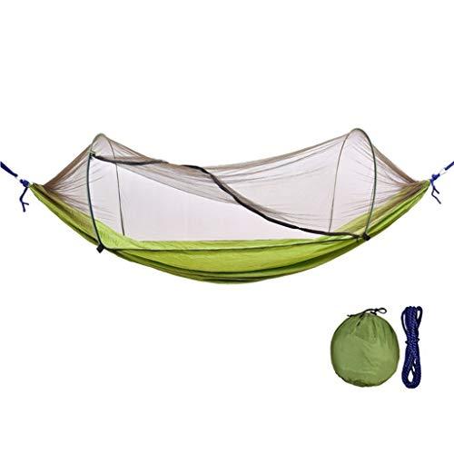 liangzishop Balançoire Swing Camping en Plein air hamac avec moustiquaire hamac Swing Portable for Camping Randonnée Voyage (Bleu) Siege Suspendu (Color : Green)