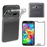 ebestStar - Funda Compatible con Samsung Grand Prime Galaxy G530F, Value Edition G531F Carcasa Silicona, Protección Claro Ultra Slim, Transparente + Cristal Templado [Aparato: 144.8x72.1x8.6mm 5.0'']