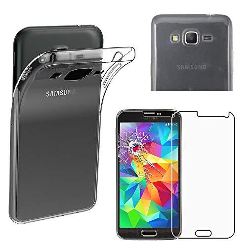 """ebestStar - Cover Compatibile con Samsung Grand Prime Galaxy G530F, Value Edition G531F Custodia Trasparente Silicone Morbida, Trasparente +Vetro Temperato [Apparecchio: 144.8x72.1x8.6mm 5.0""""]"""