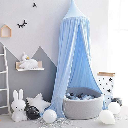 Kids Play Tent Bed Canopy Premium Yarn Play Tent Bedding For Girls Rooms Party And Holidays Decoration Children's Play House (Color : Blue, Size : 240x50cm)